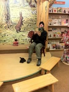Sam at Barnes & Noble, January 2013.